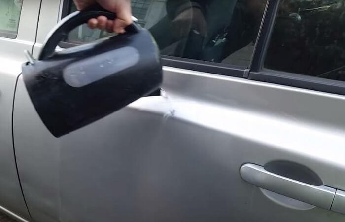 رفع تو رفتگی بدنه خودرو با آب جوش